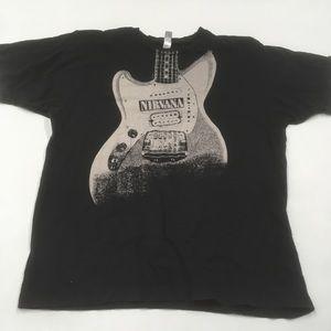 Nirvana graphic band T-shirt guitar black large